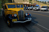 /images/133/2007-07-22-y-tower-yello-bus.jpg - #04303: Yellow Yellowstone Tour Bus … July 2007 -- Tower Fall, Yellowstone, Wyoming