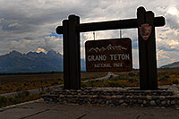 /images/133/2007-07-23-tetons-sign2.jpg - #04308: Grand Teton National Park sign from Jackson side  … July 2007 -- Tetons, Wyoming