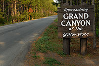 /images/133/2007-07-23-y-grand-sign-appr.jpg - #04316: Approaching Grand  Canyon of the Yellowstone sign … July 2007 -- Canyon Village, Yellowstone, Wyoming