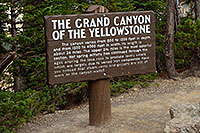 /images/133/2007-07-23-y-grand-sign-cany.jpg - #04317: The Grand  Canyon of the Yellowstone - 800 to 1,200 ft deep and 24 miles long  … July 2007 -- Lookout Point, Yellowstone, Wyoming