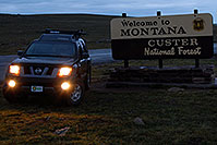 /images/133/2007-07-27-mt-sign-montana.jpg - #04424: Welcome to Montana - Custer National Forest … Images along Beartooth Pass Highway … July 2007 -- Beartooth Pass(MT), Montana