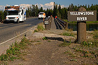 /images/133/2007-07-28-y-fish-bridge01.jpg - #04491: Motorhomes on Fishing Bridge, over Yellowstone River … July 2007 -- Fishing Bridge, Yellowstone, Wyoming