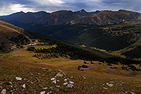 /images/133/2007-09-03-rm-gore-0956.jpg - #04613: View from Gore Range Lookout (12,020 ft), along Trail Ridge Road … Sept 2007 -- Gore Range, Rocky Mountain National Park, Colorado
