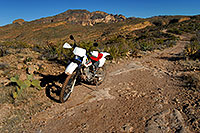 /images/133/2008-02-09-supers-xr-9698.jpg - #04773: XR250 in Superstition Mountains … Feb 2008 -- Tortilla Flat Trail, Superstitions, Arizona