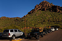/images/133/2008-03-03-squaw-2382.jpg - #04840: View of parking lot at Squaw Peak Mountain in Phoenix … March 2008 -- Squaw Peak, Phoenix, Arizona
