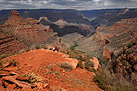 /images/133/2008-03-30-gc-ba-6744.jpg - #04965: People with a view of Bright Angel Plateau Trail in Grand Canyon … March 2008 -- Bright Angel Trail, Grand Canyon, Arizona
