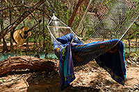 /images/133/2008-04-05-hav-camp-0732.jpg - #05083: Hammock and Guitar at Supai Campground … April 2008 -- Supai Campground, Havasu Falls, Arizona