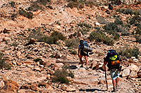 /images/133/2008-04-06-hav-can-br-1490.jpg - #05106: Hikers along Havasupai Trail near Hualapai Hilltop, in the last mile of uphill and switchbacks … April 2008 -- Havasupai Trail, Havasu Falls, Arizona