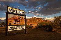 /images/133/2008-08-23-supers-museum-22288.jpg - #05793: Sunset at Lost Dutchman Museum in Superstitions … August 2008 -- Superstitions, Arizona