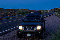 /images/133/2008-09-01-supers-xterra-23207.jpg - #05808: Xterra in Superstitions … September 2008 -- Apache Trail Road #2, Superstitions, Arizona