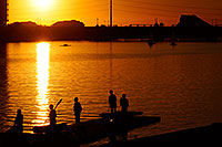 /images/133/2008-10-24-tempe-lake-38461.jpg - #05981: Scullers at sunset at North Bank Boat Ramp at Tempe Town Lake … October 2008 -- Tempe Town Lake, Tempe, Arizona