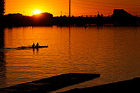 /images/133/2008-10-24-tempe-lake-38741.jpg - #05983: Scullers at sunset at North Bank Boat Ramp at Tempe Town Lake … October 2008 -- Tempe Town Lake, Tempe, Arizona