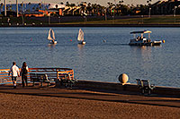 /images/133/2008-10-26-tempe-sailboats-39812.jpg - #05992: People and Kids Sailboats by North Bank Boat Landing at Tempe Town Lake … October 2008 -- Tempe Town Lake, Tempe, Arizona