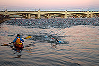 /images/133/2008-11-23-ironman-swim-52362.jpg - #06224: 0:03:07 - people on Mill Road bridge watching 2,000 swimmers - Swim at Arizona Ironman 2008 … November 2008 -- Tempe Town Lake, Tempe, Arizona