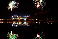 /images/133/2008-11-28-tempe-fireworks-56740.jpg - #06239: ASU football fireworks over Tempe Town Lake … November 2008 -- Tempe Town Lake, Tempe, Arizona