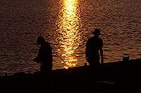 /images/133/2008-11-29-tempe-sunset-57685.jpg - #06268: Fishing at sunset at Tempe Town Lake … November 2008 -- Tempe Town Lake, Tempe, Arizona