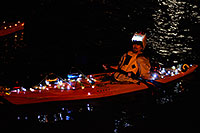 /images/133/2008-12-13-tempe-lights-boats-63647.jpg - #06439: Desert Padlers on kayaks - APS Fantasy of Lights Boat Parade … December 2008 -- Tempe Town Lake, Tempe, Arizona