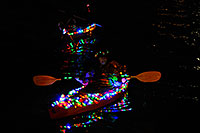/images/133/2008-12-13-tempe-lights-boats-63666.jpg - #06441: Desert Padlers on kayaks - APS Fantasy of Lights Boat Parade … December 2008 -- Tempe Town Lake, Tempe, Arizona