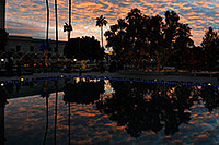 /images/133/2008-12-23-mesa-temple-sunset-66745.jpg - #06557: Reflection of Visitors Center at Mesa Arizona Temple … December 2008 -- Mesa Arizona Temple, Mesa, Arizona