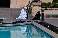 /images/133/2008-12-24-mesa-temple-bride-66672.jpg - #06563: Bride and Groom at Mesa Arizona Temple … December 2008 -- Mesa Arizona Temple, Mesa, Arizona
