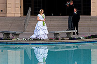 /images/133/2008-12-24-mesa-temple-bride-66675.jpg - #06564: Bride and Groom at Mesa Arizona Temple … December 2008 -- Mesa Arizona Temple, Mesa, Arizona