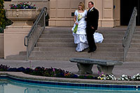 /images/133/2008-12-24-mesa-temple-bride-66682.jpg - #06565: Bride and Groom at Mesa Arizona Temple … December 2008 -- Mesa Arizona Temple, Mesa, Arizona