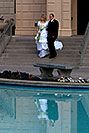 /images/133/2008-12-24-mesa-temple-bride-66682v.jpg - #06566: Bride and Groom at Mesa Arizona Temple … December 2008 -- Mesa Arizona Temple, Mesa, Arizona