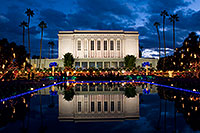 /images/133/2008-12-25-mesa-temple-67003.jpg - #06573: Reflection of Mesa Arizona Temple … December 2008 -- Mesa Arizona Temple, Mesa, Arizona