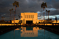 /images/133/2008-12-25-mesa-temple-west-66847.jpg - #06587: Reflection from west side of Mesa Arizona Temple … December 2008 -- Mesa Arizona Temple, Mesa, Arizona
