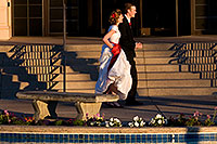/images/133/2008-12-26-mesa-temple-brides-67661.jpg - #06601: Bride and Groom at West side of Mesa Arizona Temple … December 2008 -- Mesa Arizona Temple, Mesa, Arizona