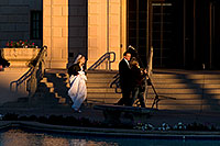 /images/133/2008-12-26-mesa-temple-brides-67701.jpg - #06603: Bride and Groom at West side of Mesa Arizona Temple … December 2008 -- Mesa Arizona Temple, Mesa, Arizona