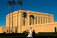 /images/133/2008-12-27-mesa-temple-brides-68023.jpg - #06616: Bride and Groom at Mesa Arizona Temple … December 2008 -- Mesa Arizona Temple, Mesa, Arizona