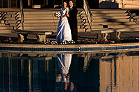 /images/133/2008-12-27-mesa-temple-brides-68088.jpg - #06619: Bride and Groom at Mesa Arizona Temple … December 2008 -- Mesa Arizona Temple, Mesa, Arizona