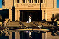 /images/133/2008-12-27-mesa-temple-brides-68119.jpg - #06621: Bride and Groom at Mesa Arizona Temple … December 2008 -- Mesa Arizona Temple, Mesa, Arizona