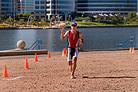 /images/133/2009-10-25-soma-run-120035.jpg - #07708: 04:35:14 Runner at Soma Triathlon … October 25, 2009 -- Tempe Town Lake, Tempe, Arizona
