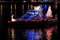 /images/133/2009-12-12-tempe-aps-lights-128264.jpg - #07963: Boat #20 at APS Fantasy of Lights Boat Parade … December 2009 -- Tempe Town Lake, Tempe, Arizona