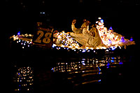 /images/133/2009-12-12-tempe-aps-lights-128304.jpg - #07964: Boat #28 at APS Fantasy of Lights Boat Parade … December 2009 -- Tempe Town Lake, Tempe, Arizona