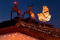/images/133/2009-12-31-chandler-santa-131268.jpg - #08021: Rudolph with red nose and Santa Claus in Chandler … December 2009 -- Chandler, Arizona