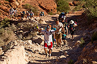 /images/133/2010-06-19-havasu-people-6038.jpg - #08132: Hikers along Havasupai Trail … June 2010 -- Havasupai Trail, Havasu Falls, Arizona