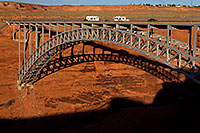 /images/133/2010-07-18-powell-dam-17834.jpg - #08259: Bridge over the Colorado River at Bryce Canyon Dam … July 2010 -- Lake Powell, Arizona