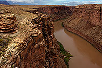 /images/133/2010-08-01-vermilion-bridge-20413.jpg - #08350: View of Colorado River from Navajo Bridge at Marble Canyon … August 2010 -- Navajo Bridge, Marble Canyon, Arizona