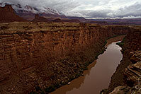 /images/133/2010-08-01-vermilion-bridge-20416.jpg - #08351: View of Colorado River from Navajo Bridge at Marble Canyon … August 2010 -- Navajo Bridge, Marble Canyon, Arizona