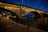 /images/133/2010-08-21-havasu-bridge-5d_0845.jpg - #08510: Twilight at the London Bridge at Lake Havasu … August 2010 -- London Bridge, Lake Havasu City, Arizona