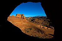 /images/133/2010-09-05-arches-delicate-wind-31615.jpg - #08591: View of Delicate Arch through a window in Arches National Park … September 2010 -- Delicate Arch, Arches Park, Utah