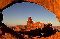 /images/133/2010-09-09-arches-turret-view-32102.jpg - #08641: View of Turret Arch through North Window in Arches National Park … September 2010 -- Turret Arch, Arches Park, Utah
