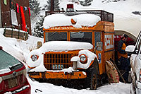 /images/133/2011-01-09-ouray-cars-48079.jpg - #09035: Ouray Mountain Rescue truck by Ouray … January 2011 -- Ouray, Colorado