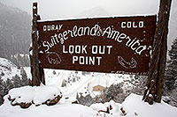 /images/133/2011-01-09-ouray-sign-48990.jpg - #09067: Ouray, Colorado - Switzerland of America - Lookout Point … January 2011 -- Ouray, Colorado