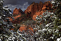/images/133/2011-03-22-sedona-snowy-61890.jpg - #09109: Morning in Sedona … March 2011 -- Schnebly Hill, Sedona, Arizona