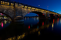 /images/133/2011-04-01-havasu-bridge-night-65521.jpg - #09113: Night at London Bridge in Lake Havasu City … April 2011 -- London Bridge, Lake Havasu City, Arizona