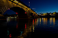 /images/133/2011-04-01-havasu-bridge-night-65536.jpg - #09114: Night at London Bridge in Lake Havasu City … April 2011 -- London Bridge, Lake Havasu City, Arizona